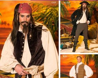 4923 Simplicity, Pirates of the Carribean, Jack Sparrow, ship's captain costumes, Captain Hook, Swashbuckler Pirate