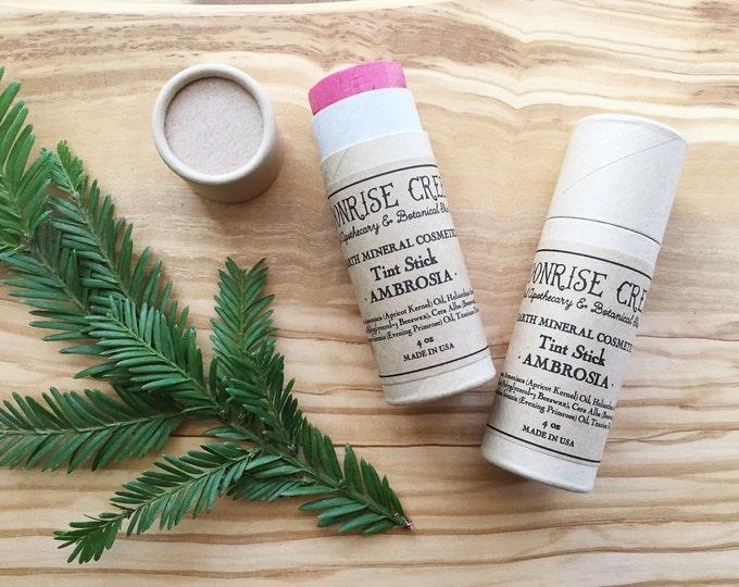 Tint Stick • AMBROSIA • Nourishing Universal Lip + Cheek + Eye Tint • Stain • Mineral Blush • Natural Lip Stick • Cruelty Free
