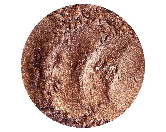 Mineral Eye Shadow • ACORN • Loose Powder • Earth Mineral Cosmetics • Planet Wise + Vegan All Natural Cosmetics • Warm Coppery Medium Brown