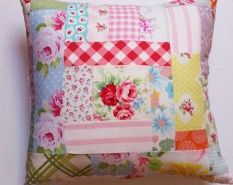 Reserved for Kristen,  Colorful Boho Pillow, Bohemian Patchwork, Pillow for Girl, Shabby Chic, Cottage Decor, Nursery, Sunroom, Little Girl