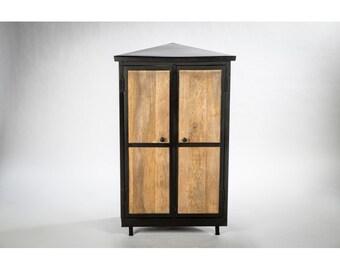 Design corner Cabinet wood and metal