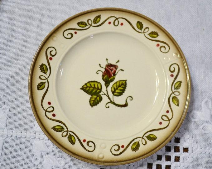 Vintage Metlox Poppytrail Provincial Rose Bread Plate California Pottery  Panchosporch