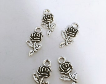 Flower charms (10 pieces)