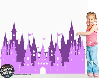 Princess Castle wall decals for girls , wall decals nursery , wall decals for kids , nursery wall decal , girls room decor