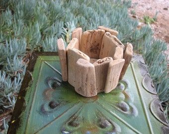 Driftwwood Candle Holder Container