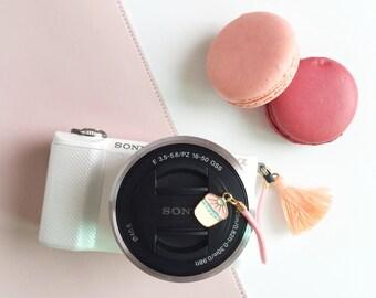 Camera Lens Cap Holder - Sweet Cupcake