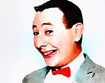 PeeWee Herman Watercolor Print