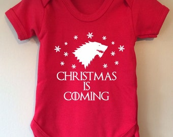 Christmas is Coming - Game of Thrones inspired baby body/vest/bodysuit
