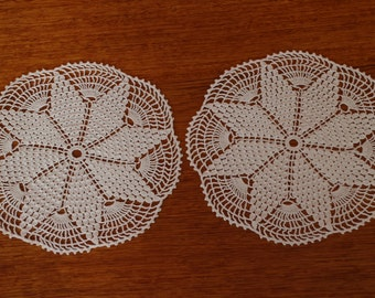 Set of two handmade doilies