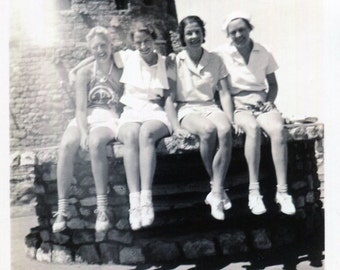 Vintage Photo..Girls on Vacation 1930's, Original Photo, Old Photo Snapshot, Vernacular Photography, American Social History Photo