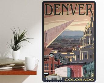 Denver Colorado City Landmarks Wall Decal - #60887