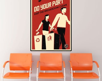 Clean Breakroom Propaganda Wall Decal - #70427