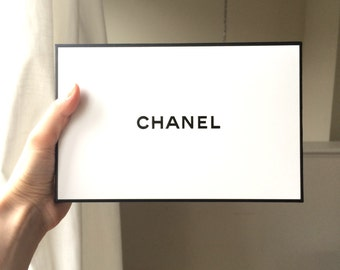 Authentic Chanel gift box /Medium size/ Chanel box/Black and white/ Paper box/ Holiday gift box/ Chanel/