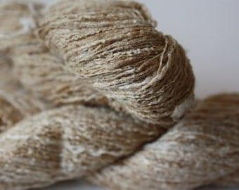 NEW***Bleached Tassar Ghicha Silk Yarn