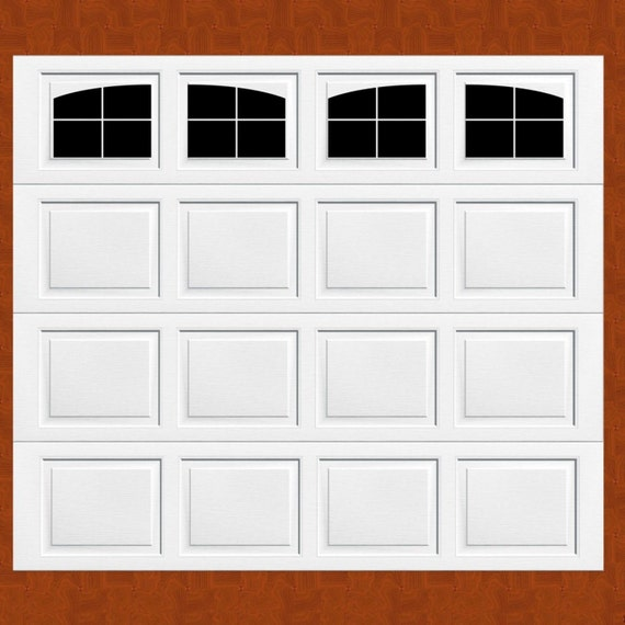 Style Your Garage Creative 3d Garage Doors Stickers: Carriage House Style Faux Windows Garage Door Vinyl Decals