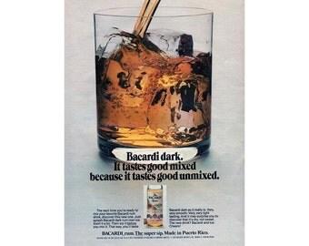 Bacardi Dark Rum vintage advertisement