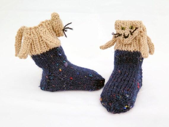 Knitting Pattern For Cat Socks : KNITTING PATTERN, Novelty Baby Socks , Cat Socks, Toddler ...