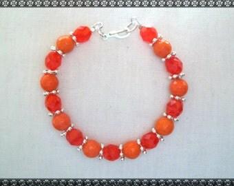 orange bracelet, bright orange bracelet, bright,