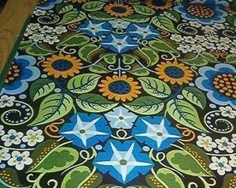 FREE SPIRIT cotton quilt fabric-Wild Child-Jane Sassaman-Flower Fiesta-1 yard