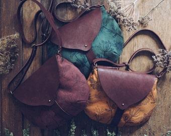 "Leather-textile bag ""My garden"""