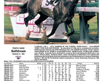 Holy Bull Florida Derby 1994, Gulfstream Park with Race Chart
