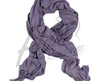 Lilac, Ivory or Salmon Jersey Scarf