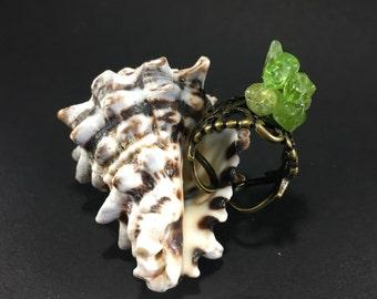 Bronze ring and Peridots