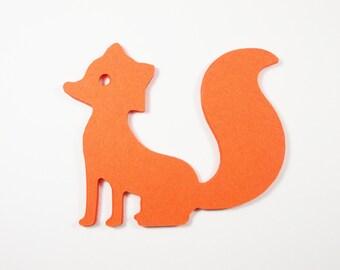 Woodland Animal Party Decorations, Fox Cutouts,  Birthday Party Decoration,Table Decor, 24