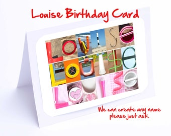 Louise Personalised Birthday Card