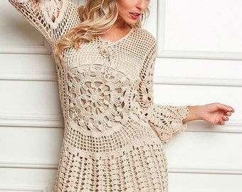 Crochet dress - made to order - hand made