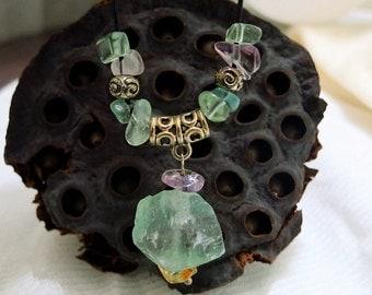 Rough Fluorite Necklace