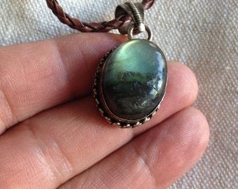 SALE: Beautiful labradorite pendant - Blue Labradorite pendant necklace - labradorite necklace - blue labradorite pendant necklace