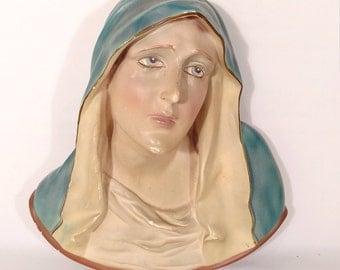 Collectable Mother Dolorosa Roman Art Co. Inc Chalkware