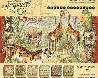 Graphic 45 Safari Adventure 12 x 12 Paper Pad