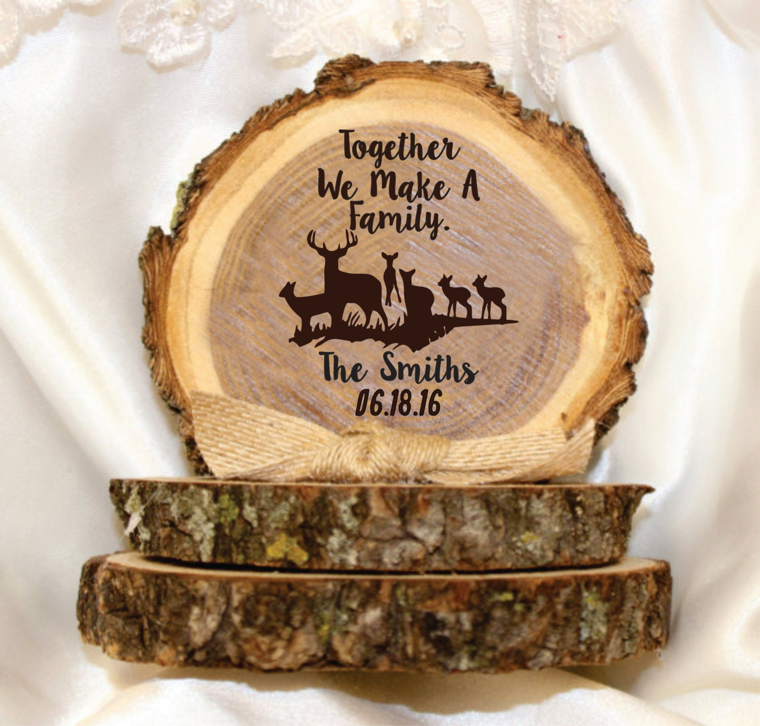 Wedding cake topper country wedding blended family
