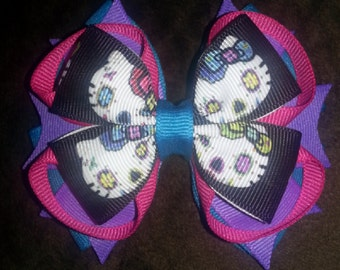 Scary Kitty Stacked Boutique Bow