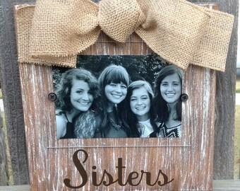 Sisters Whitewashed Frame
