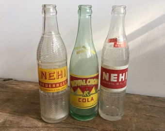 Soda Bottle Collection Nehi Royal Crown Cola Red
