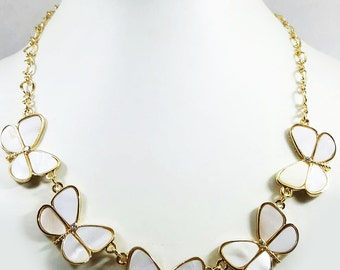 LAST PC SALE/ Butterfly Necklace/ Statement Necklace/ Shell necklace