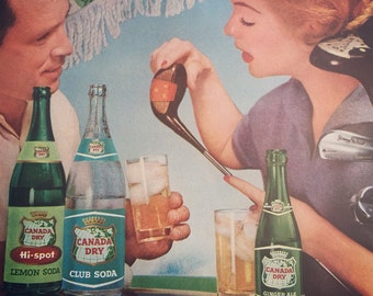 Almost Summertime, this is a fun 1956 Ad for Canada Dry, perfect for the 19th hole.