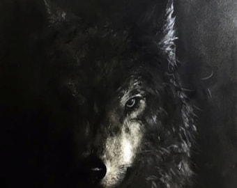 The Lone Wolf Giclee Print by Fiona Tang