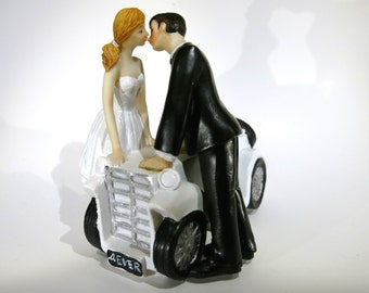 "1pc ""4 ever car"" vintage style wedding cake topper (D16)"