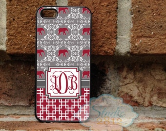 Personalized iPhone Case, -iPhone 5, iPhone 6, iPhone 7, Samsung Galaxy S5, Galaxy s6, Samsung S7 - vine  - Alabama - 017