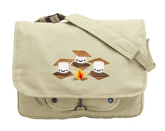 S'more S'mores Embroidered Canvas Messenger Bag