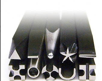 Decorative Chasing Tool Set Made In Germany Metalsmith Silversmith Jewelry WA 410-000