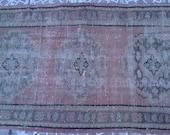 Vintage TURKISH  Oushak Rug  132x31