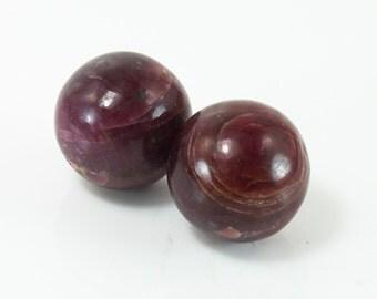 Ruby Marbles, Sphere Pair, M-784