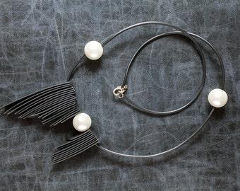 Handmade item.Handmade necklace.Rubber necklace.Mariellas Code.