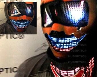 Pumpkin Robot Mask VI - Halloween Mask Bot Costume for DJ Helmet LED Mask Rave Ai Robot Costume Cosplay Cyborg Party Mask watchdog Outfits