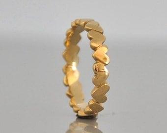 14k Gold Ring , 14k gold Band Ring , Yellow Gold Wedding Ring , Gold Band Ring , 14k Solid Gold Ring , Anniversary Ring , Fine Ring